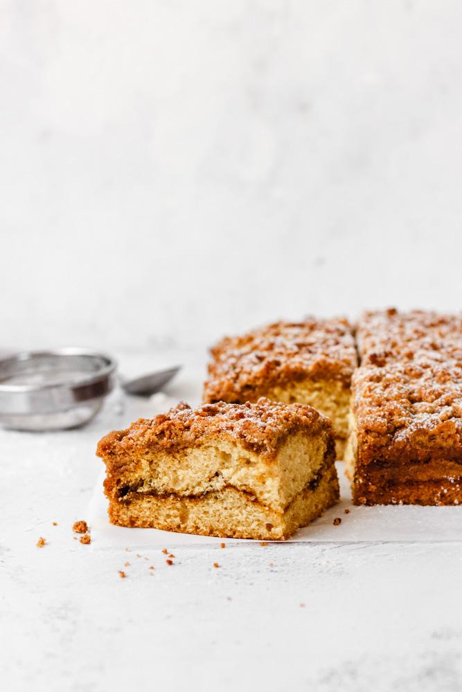 Breakfast streusel cake