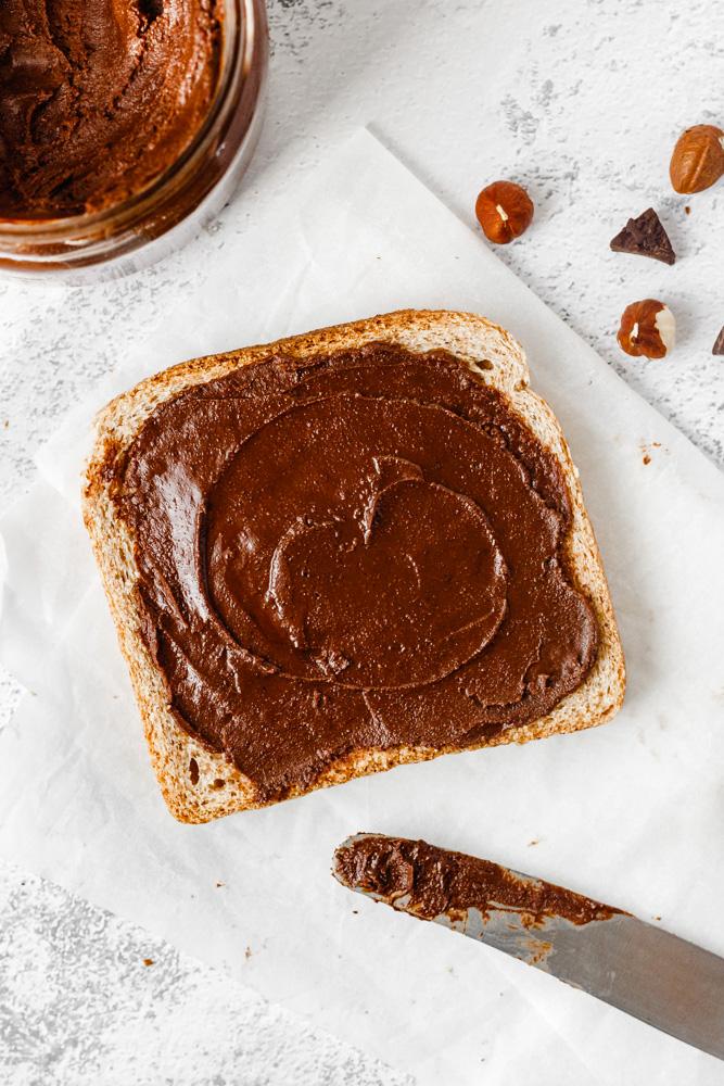 Homemade Nutella Spread On Toast