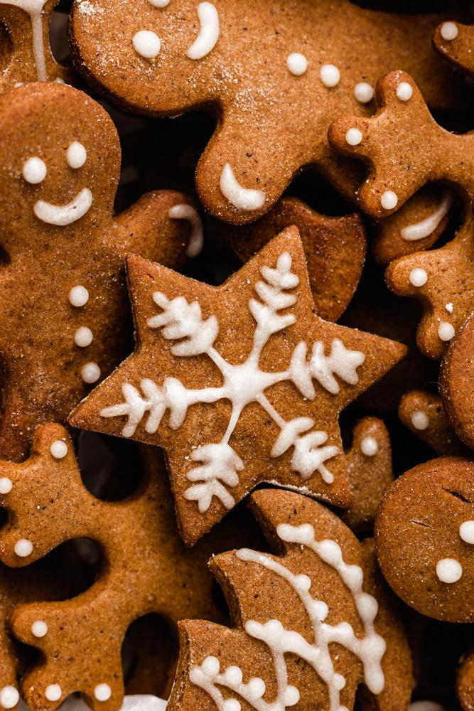 Closeup Of Vegan Gingerbread Cookies