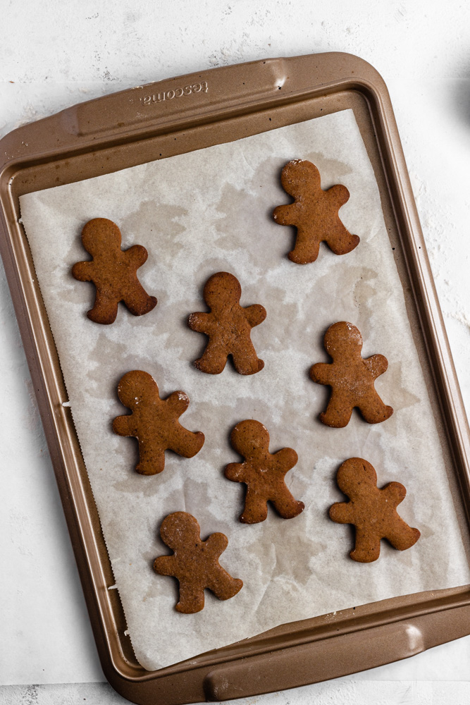 Gingerbread Cookies After Baking