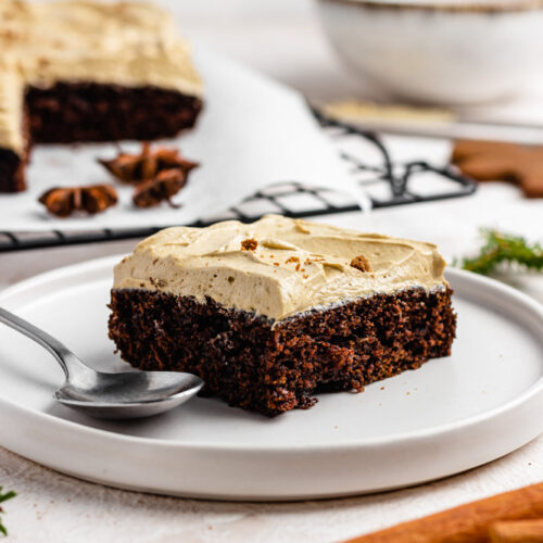 A Slice Of Gingerbread Sheet Cake