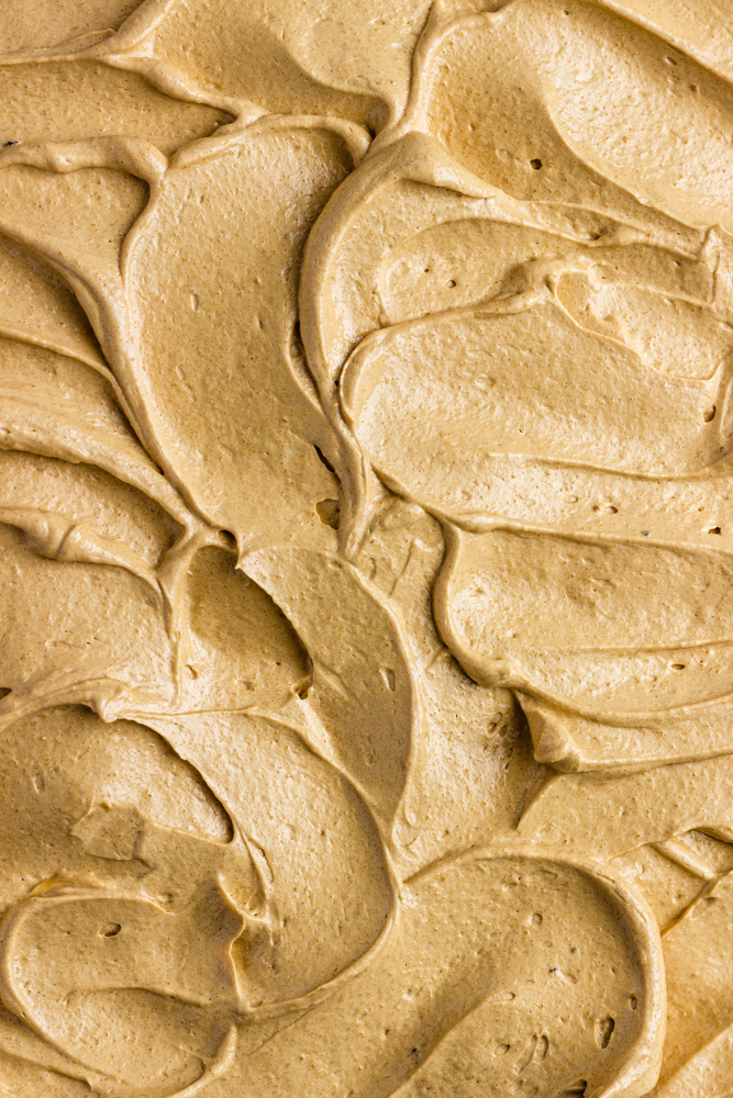Close Up Of Molasses Buttercream Frosting