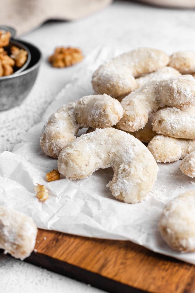 Closeup Of Crescent Cookies