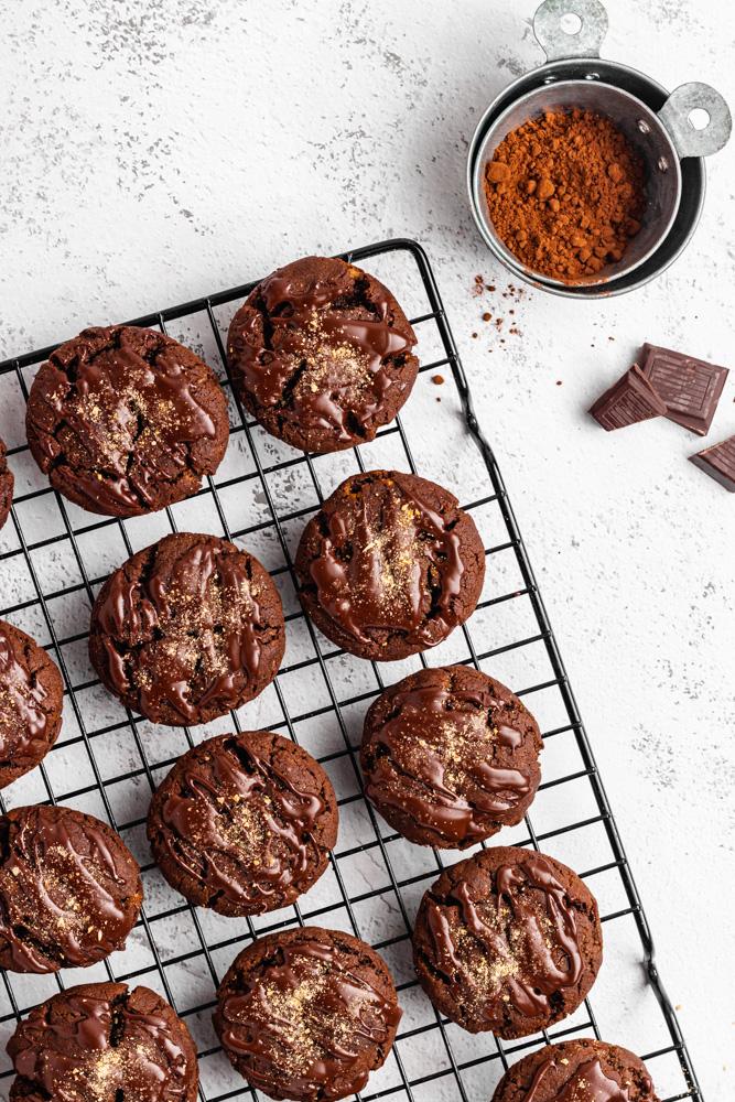 Čokoládové sušenky ze shora