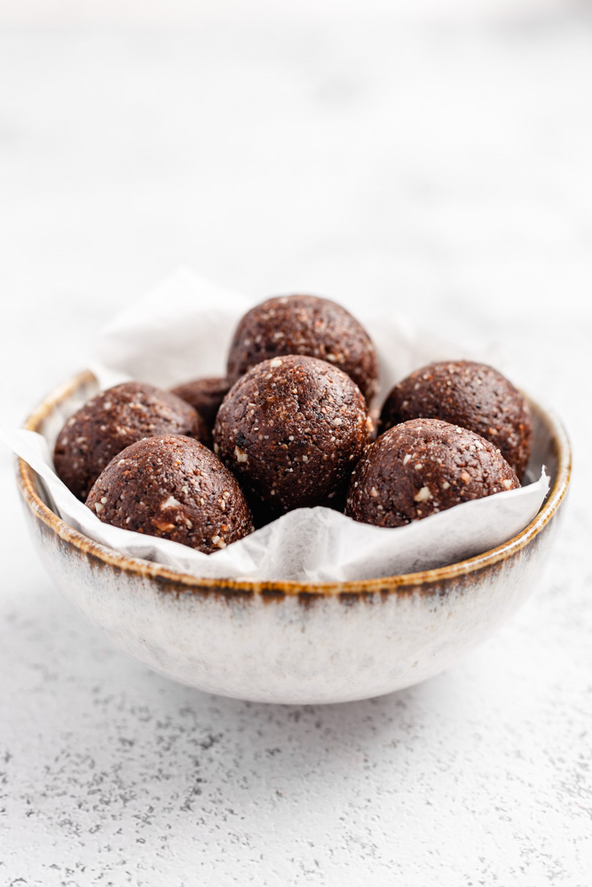 Coffee Bliss Balls In A Bowl