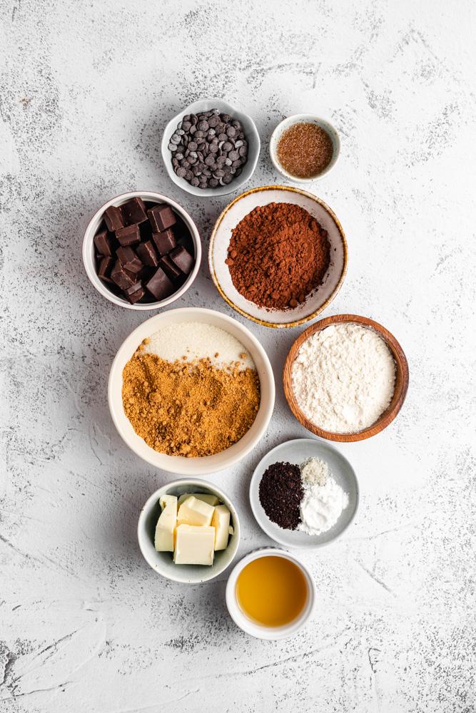 Ingredience na brownies