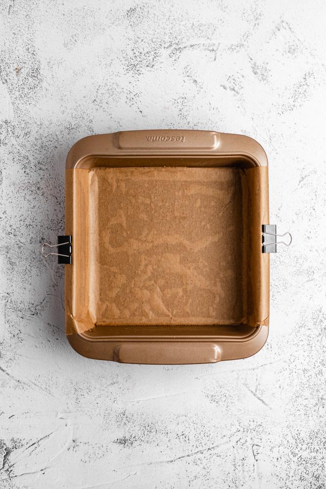 Prepare Square Baking Pan
