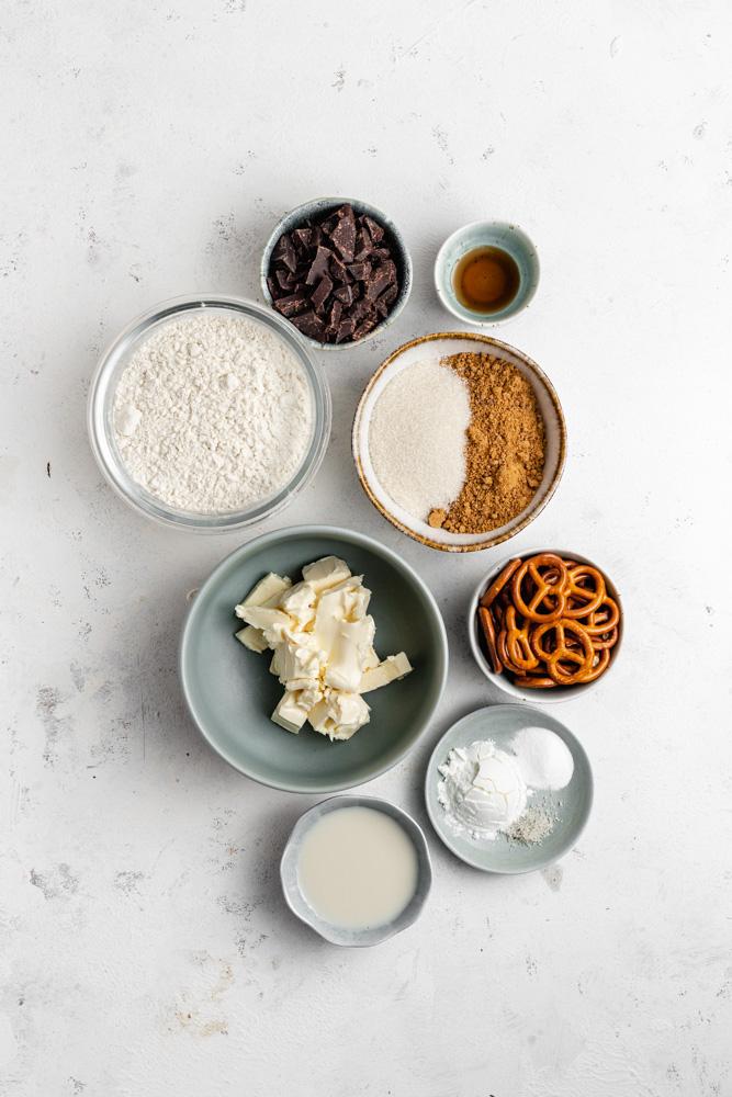 Ingredients For Vegan Skillet Cookie