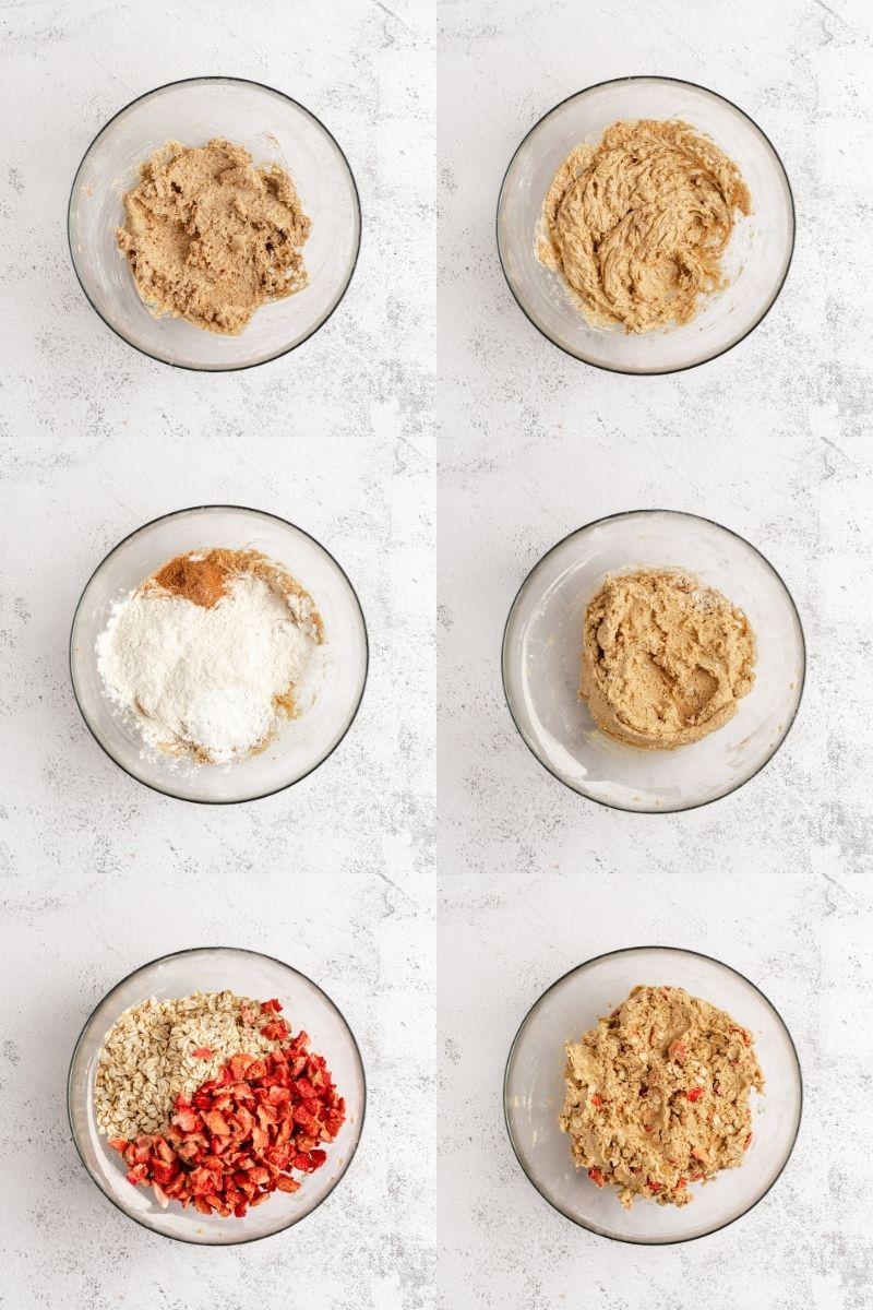 Recipe steps of oatmeal cookies