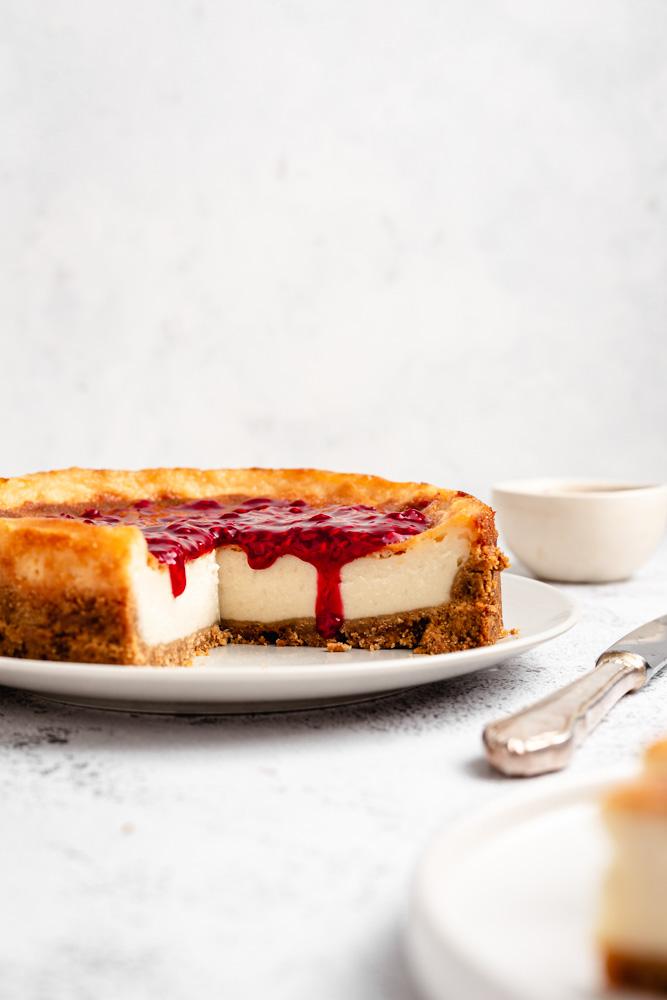 Veganský pečený cheesecake