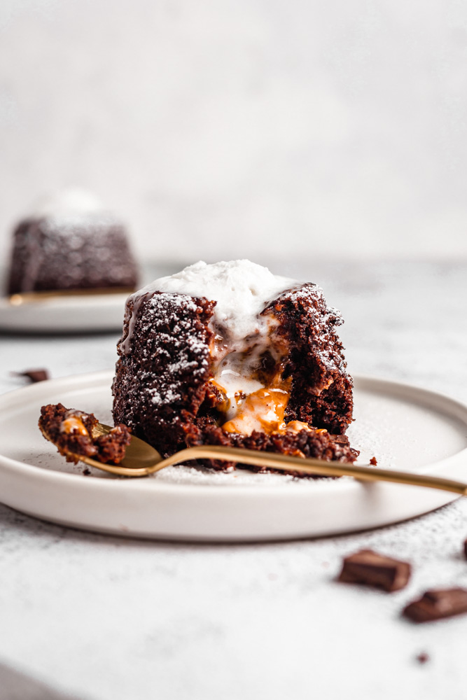 Biscoff Lava Cake On A Plate