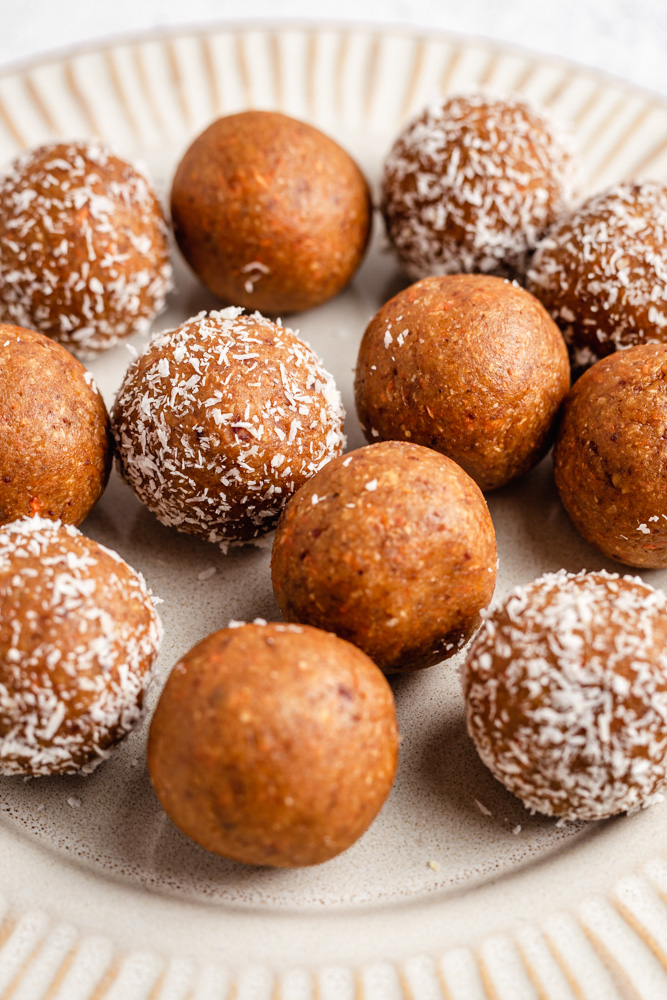 Close Up Of Carrot Energy Balls