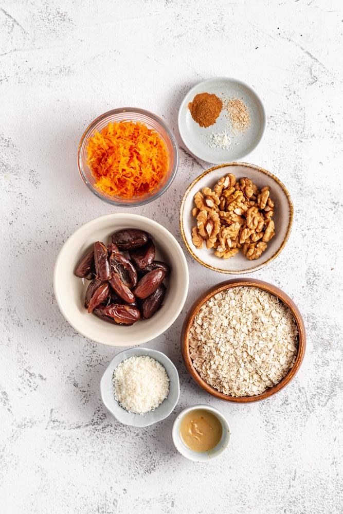Ingredients For Carrot Cake Balls