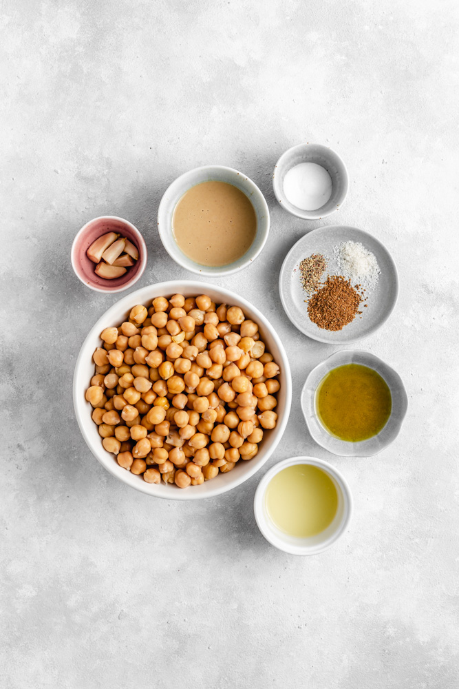 Ingredients For Homemade Smooth Hummus