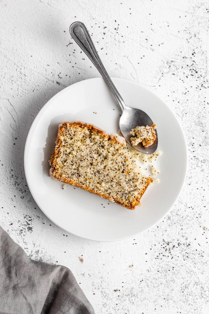 Slice Of Lemon Poppy Seed Cake