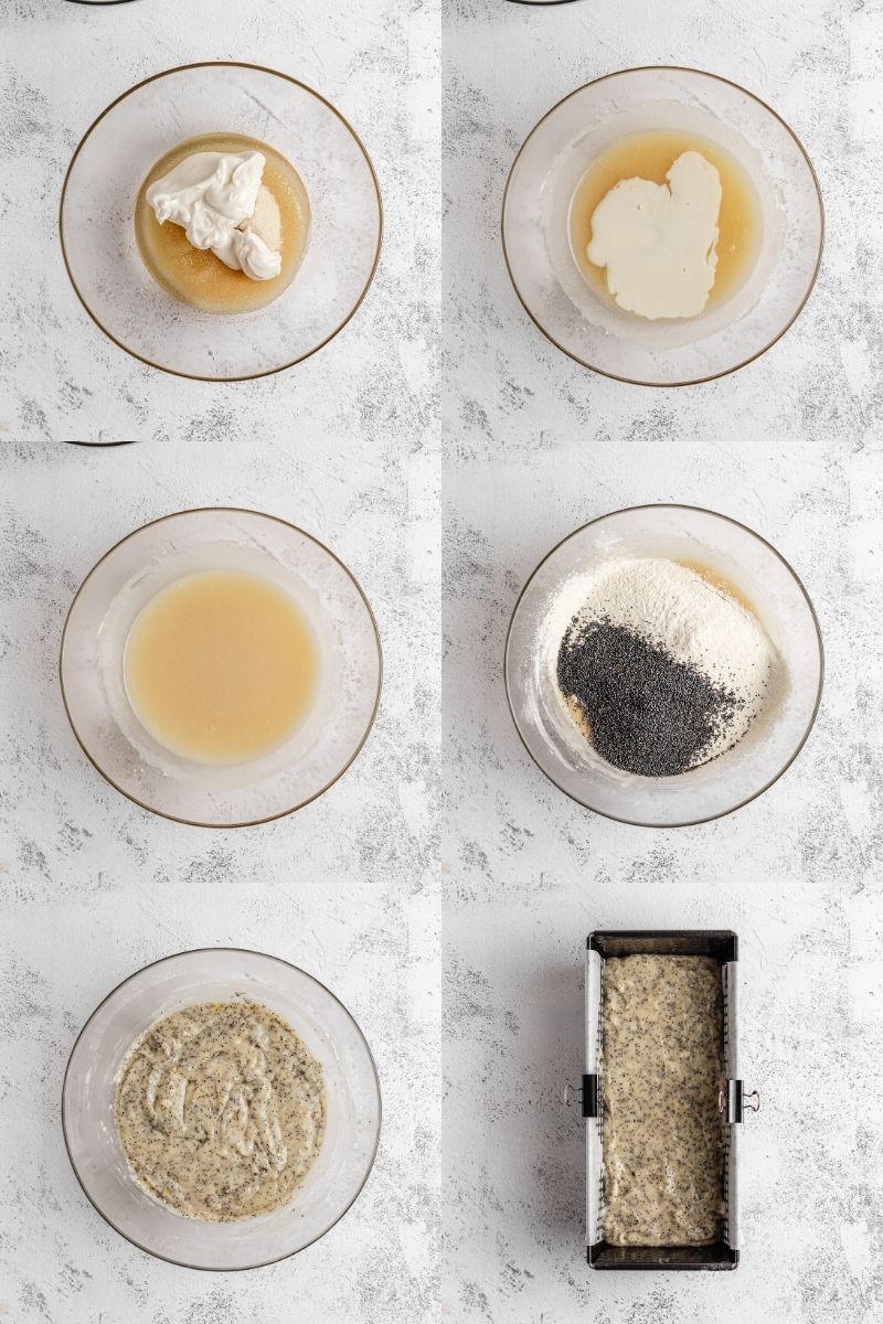 Combining dry ingredients with wet ingredients