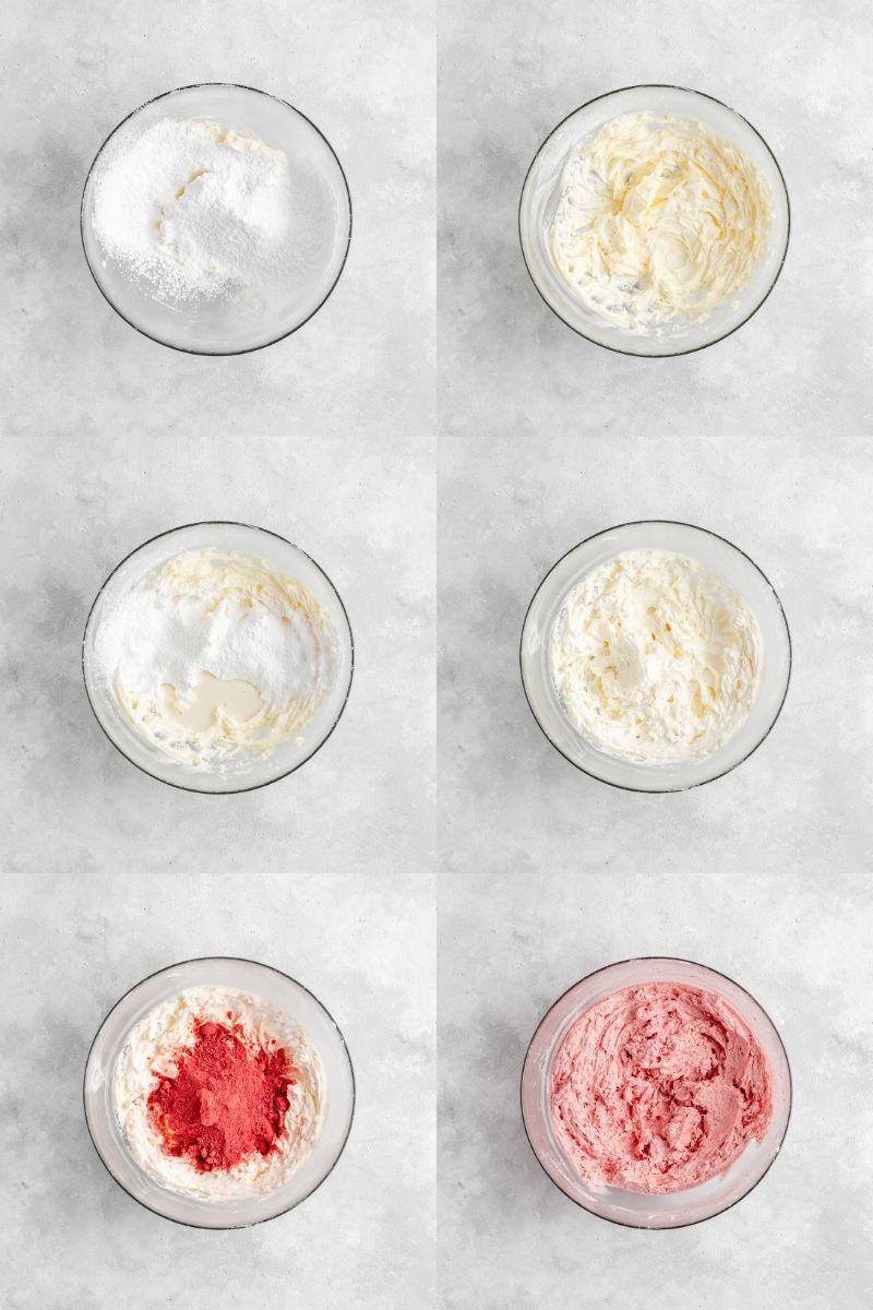 Postup přípravy jahodového krému