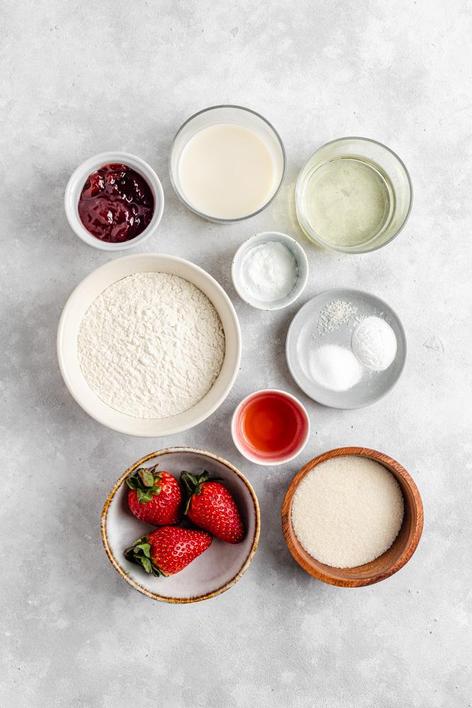 Ingredience na veganské cupcakes