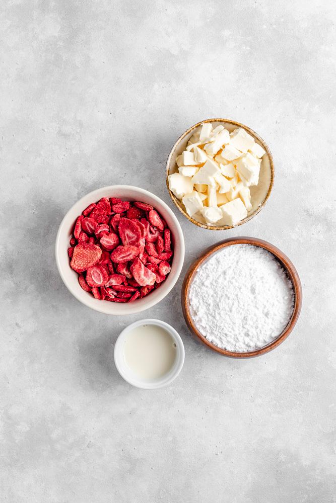 Ingredience na máslový krém
