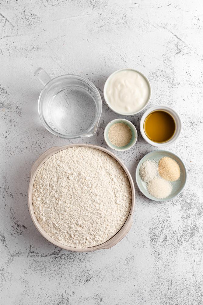 Ingredients For Vegan Naan Bread