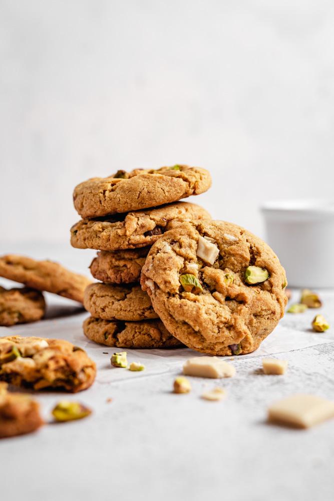 Pistachio Cookies Stack