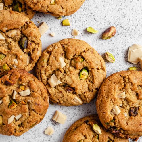 Headshot Of Vegan White Choc Cookies