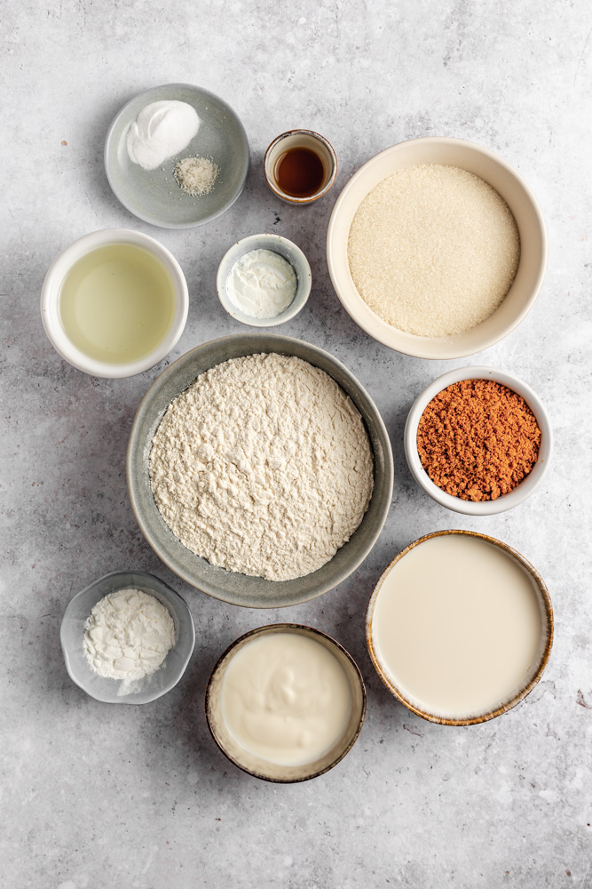 Ingredients for Biscoff cupcakes