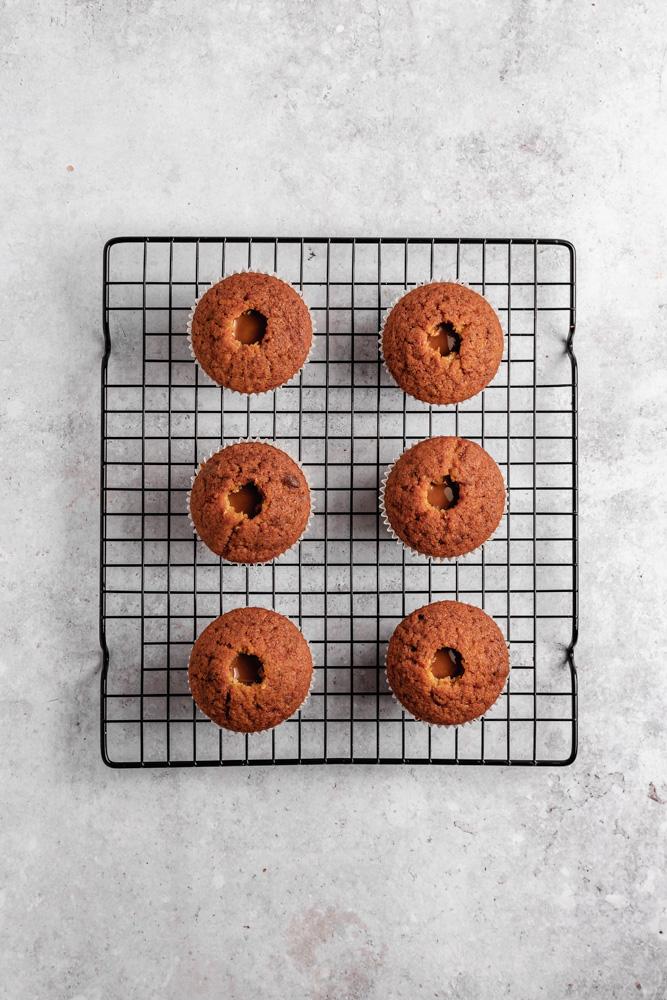 Cupcakes naplněné Biscoff pomazánkou