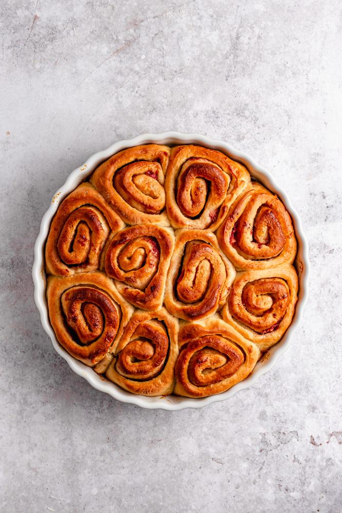 Sweet rolls after baking