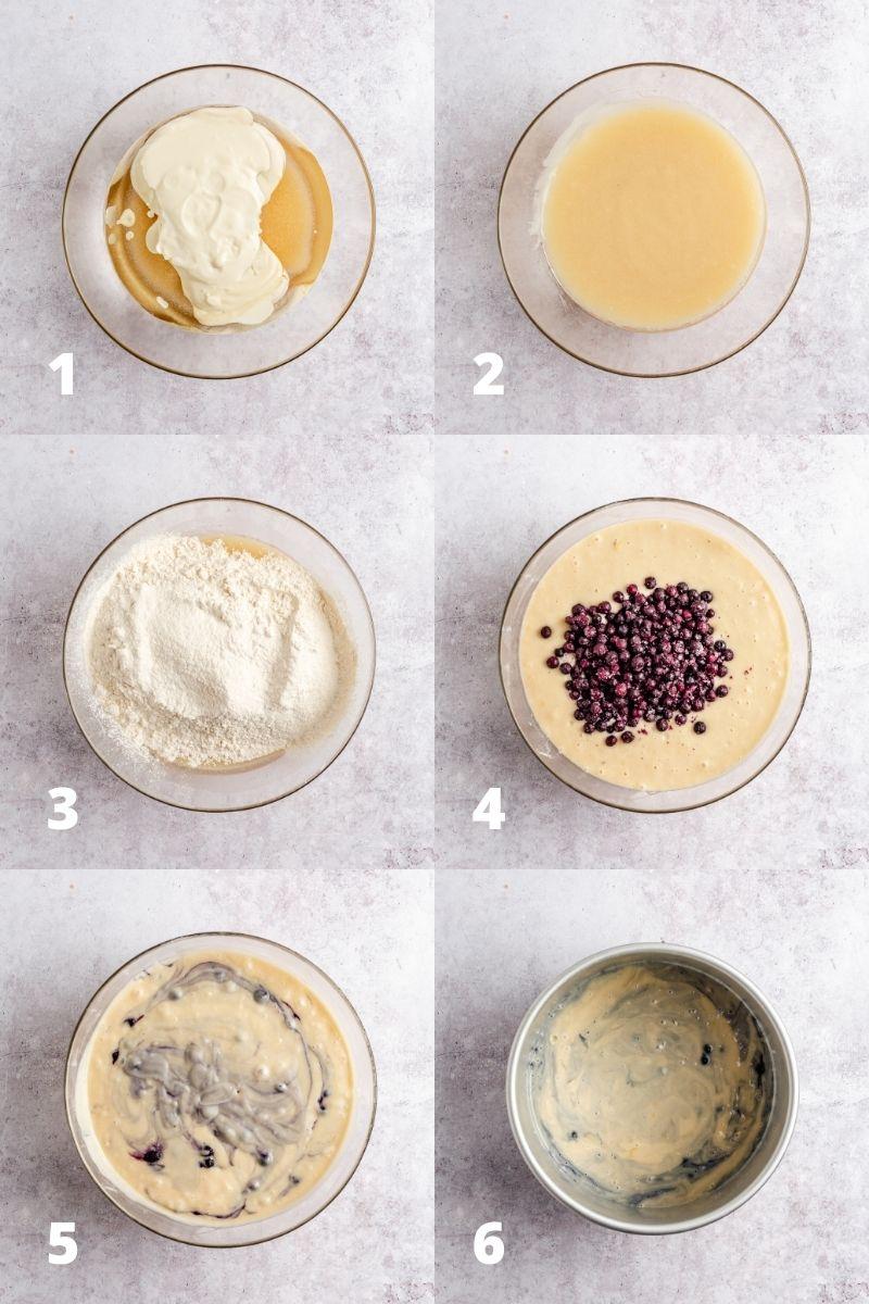 Cake batter recipe steps