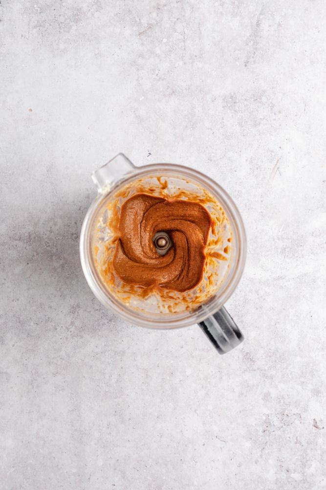 Nut butter in high-speed blender