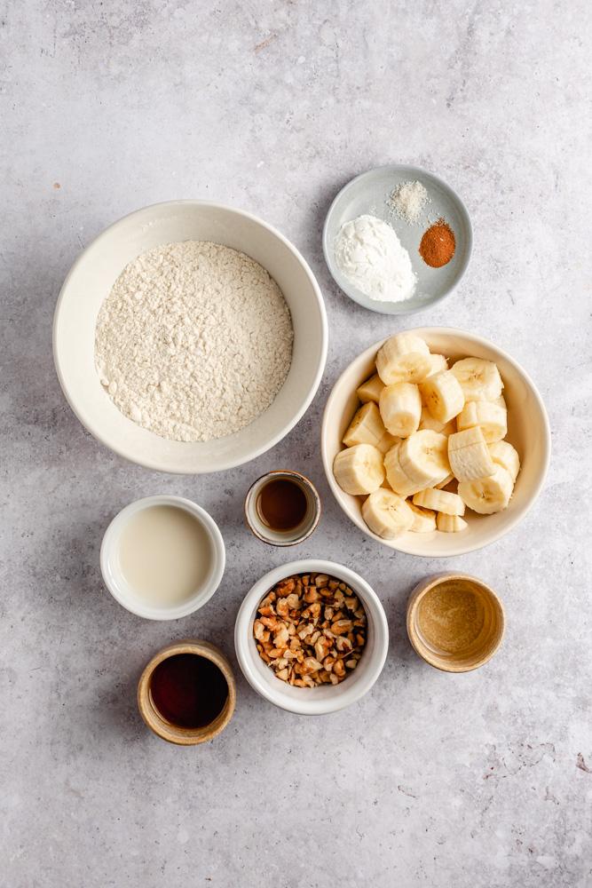 Ingredients for vegan waffles