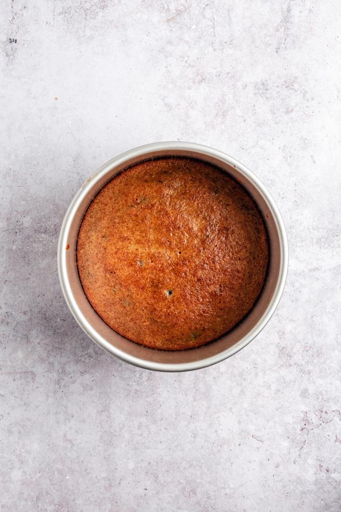 Cake sponge after baking