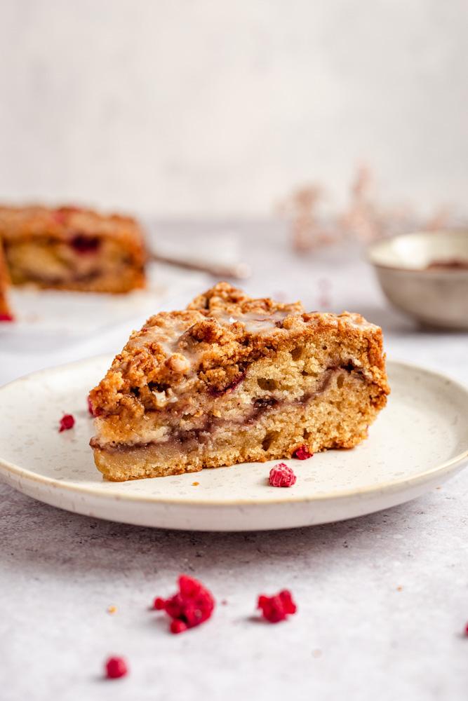 Slice Of Raspberry Streusel Cake