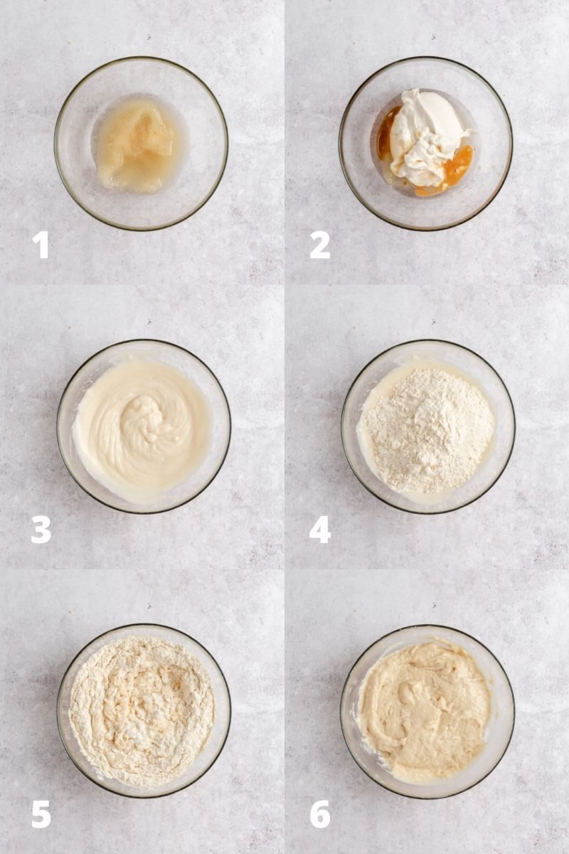 How to make coffee cake batter - steps
