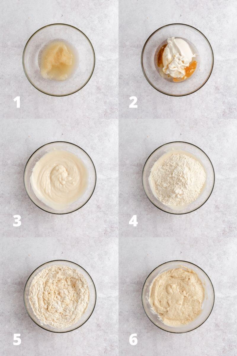 Příprava těsta na malinový koláč