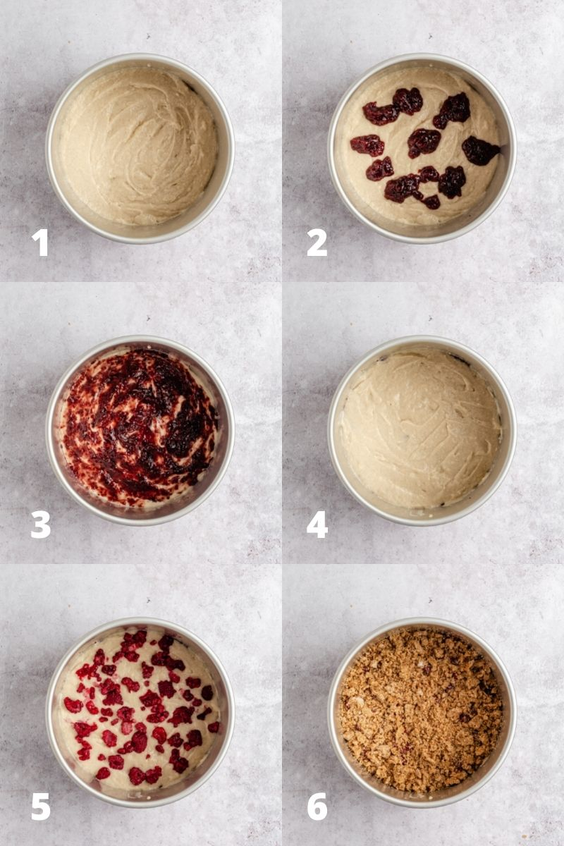 How to assemble coffee cake - steps